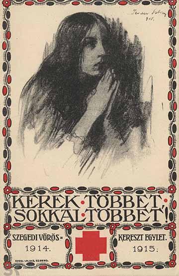 A szegedi Vörös Kereszt Egylet képeslapja