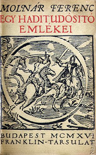 Molnár Ferenc kötetének címlapja