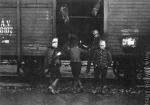 Vagon 40 ember vagy 6 ló szállítására