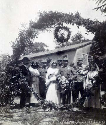 Gildi Sándor, szegedi 46-os közös gyalogezredbeli főhadnagy esküvője 1917-ben