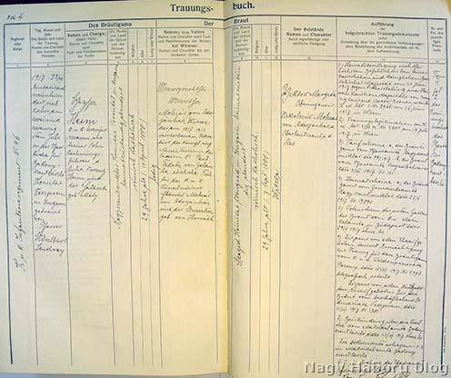 Heim Géza katonai házassági anyakönyve