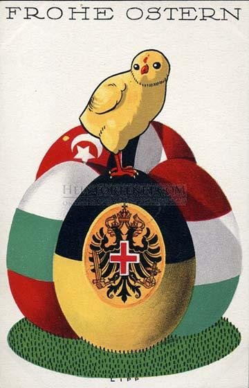 Az Osztrák Vöröskereszt húsvéti levelezőlapja