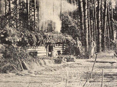 Tüzérek szállása az erdőben