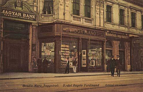 Vidor Manó könyv-, zenemű- és papírkereskedése Nagyváradon