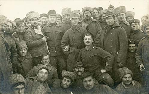 Orosz és német-osztrák–magyar katonák barátkozása a keleti fronton az 1917. december 15-i fegyverszünet után