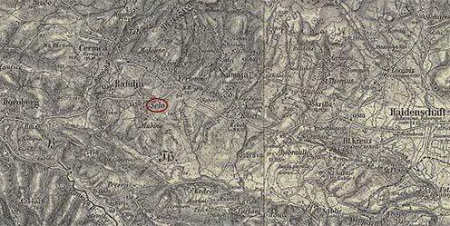 Selo és környéke a Harmadik Katonai Felmérésen