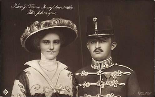 Károly és Zita korabeli képeslapon