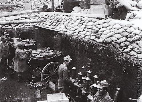 Tábori konyha az olasz fronton