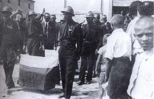 Trasferimento salme dal cimitero di Mariano