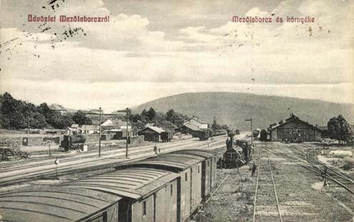 A mezőlaborci pályaudvar Vidrány felőli szakasza