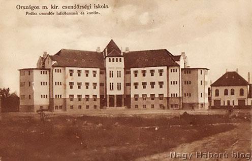 A csendőriskola épülete 1915-ben