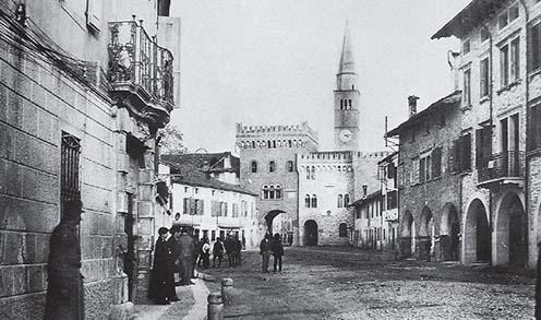 Az osztrákok által megszállt San Vito al Tagliamento 1918-ban