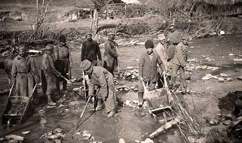 Orosz hadifoglyok munkában