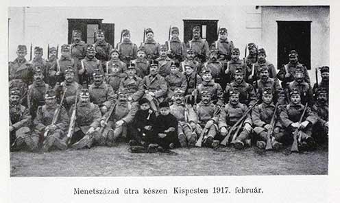 A 30. gyalogezred menetszázada Kispesten, 1917