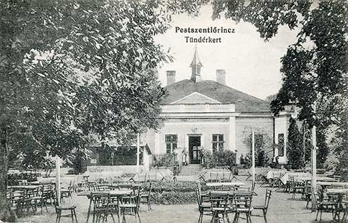 A pestszentlőrinci Tündérkert vendéglő egy képeslapon 1911-ben