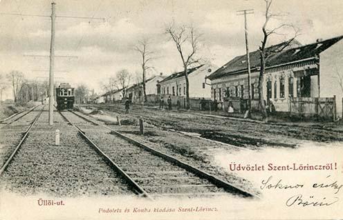Üllői út a villamossal képeslapon, 1905 körül