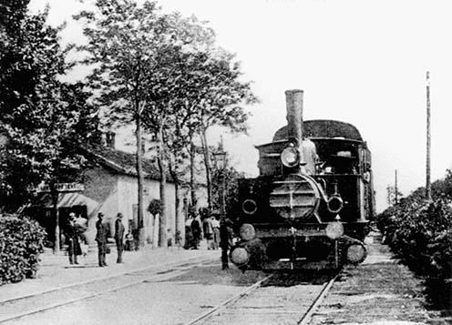 Soroksárpéteri vasútállomás képeslapon, 1911 körül
