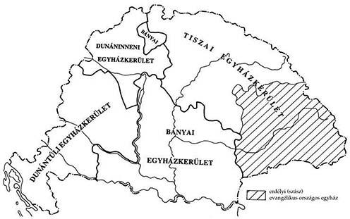 A magyarországi evangélikus egyház egyházkerületei 1894–1918 között