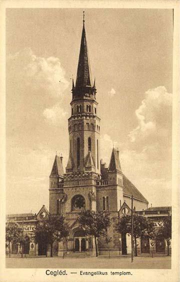 Az 1896-ban felavatott ceglédi evangélikus templom
