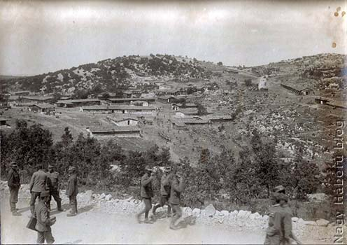 A tábor egy részének látképe 1916 tavaszán