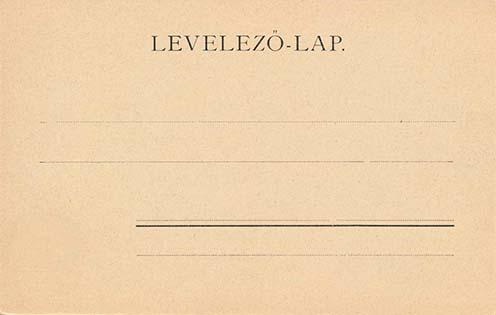 Képes levelezőlap hátoldala, 1906 előtt
