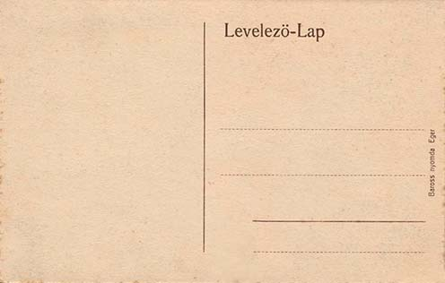Képes levelezőlap hátoldala, 1906 után