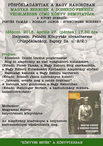 könyvbemutató plakát