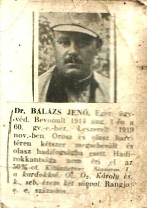 Dr. BALÁZS JENŐ. Eger