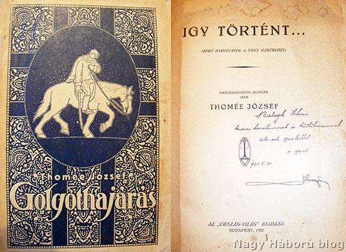 A Golgothajárás borítója és az Így történt című kötet belső lapja