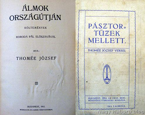 Az Álmok országútján kötet belső lapja, illetve a Pásztortüzek mellett borítója