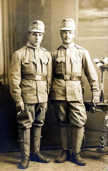 Kudlik Károly és barátja, Tirányi Mihály 1914. november 19-én