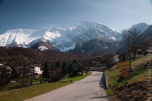 Első szállásunk a Kosečhez tartozó Drežnica faluban volt