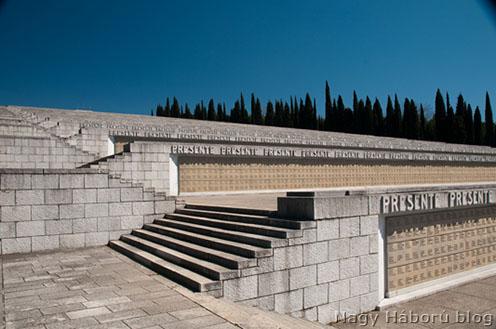 A monumentális olasz osszárium Redipugliában