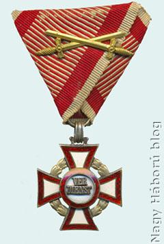 Katonai érdemkereszt III. osztálya hadidíszítménnyel