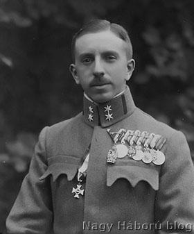 Ungár Károly már főhadnagyként