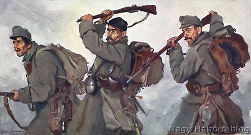 Rohamozó katonák