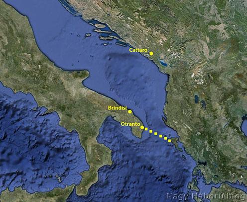 Az antant tengerzára Otrantónál