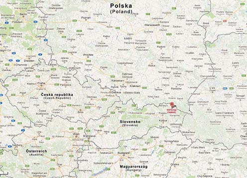 Velkő – Vel'krop Google térképen
