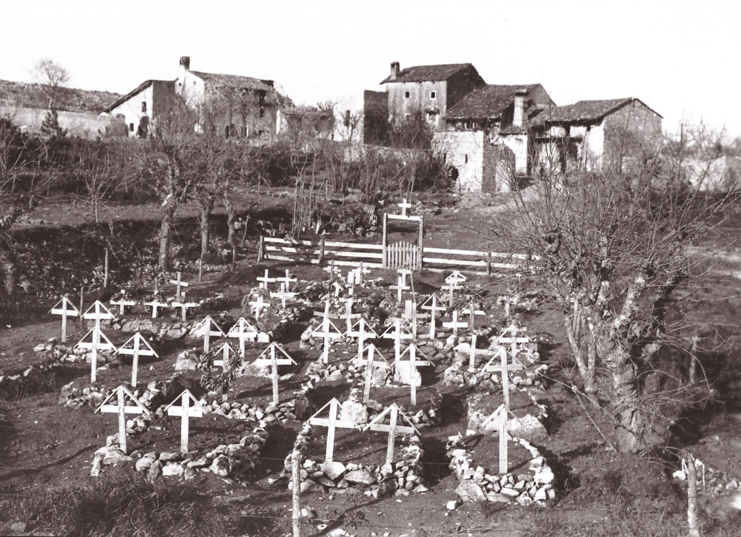 Fotografia del 1915 del cimitero