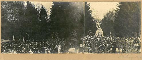 A szombathelyi emlékmű avatása 1931-ben
