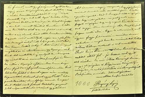 Regényi Lajos szabadkai földbirtokos levele
