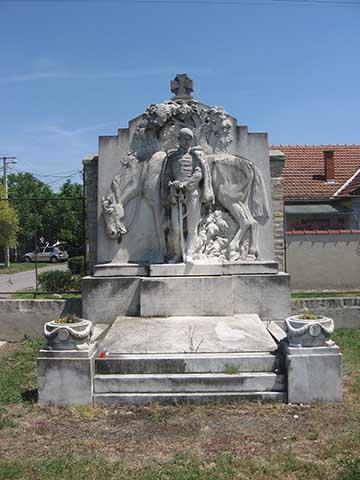 Dr. Regényi Gábor síremléke Szabadkán, a Bajai úti temetőben