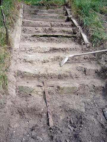 A megtisztított lépcső