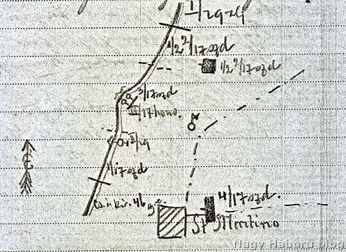 17-es népfelkelők állásai a Monte San Michele délnyugati lejtőjén 1915 novemberében