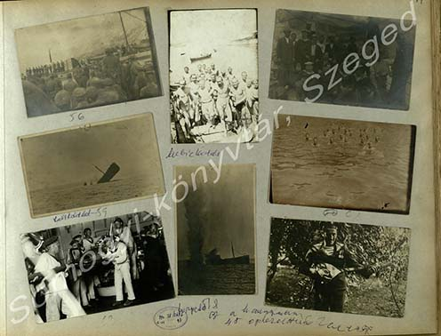 Erdélyi Mihály fotóalbumának egy oldala
