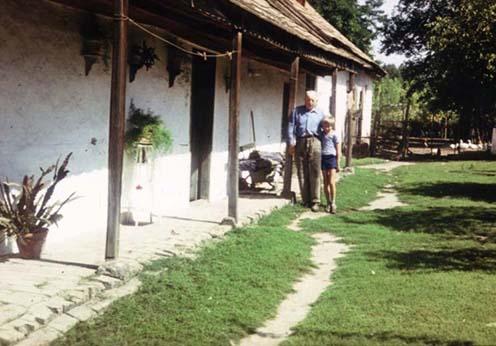 Palló József nagyapjával, Palló Mihállyal 1976 körül