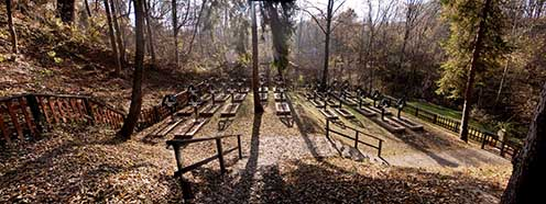A felújított tymbarki katonai temető napjainkban