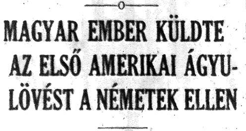 Részlet a Magyar Híradó 1918. január 24-i lapszámából