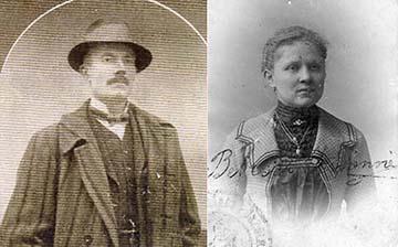 Bebessi István és felesége Patek Mária Irma