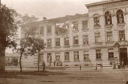 A felső reáliskola épülete Tarnówban